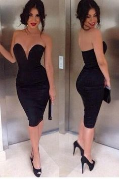 Leakage shoulder chest wrapped package hip sexy dress