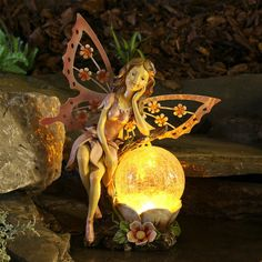 Large Fairy Figurine Solar Light World Of