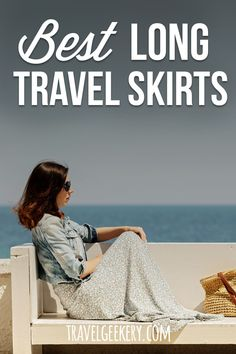 Check out my pick of the best travel skirts that are long. These long skirts with pockets will make not just for a modest travel outfit, but can be so comfortable on the road. See why I recommend long skirts for travel as the key component of your packing list. Both casual and dressy travel skirts for summer or year round (with leggings). Travel skirts - long!  #travelfashion #outfit #travelskirt #longskirt #travelgeekery Best Shoes For Travel, Best Travel Gifts, Long Skirts, Summer Skirts, Work Travel, Travel Style, Travel Items, Travel Products