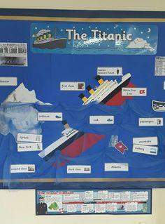 Titanic board for my Year 3 topic Titanic, Classroom Ideas, Board, Classroom Setup, Planks, Classroom Themes