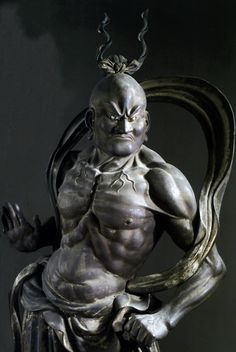 Japanese guardian God, Ungyo 吽形, one of a pair (Agyo and Ungyo)