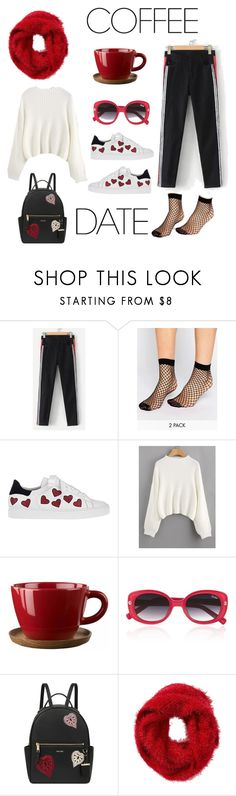 """""""On A Sunny Winter Day"""" by sara-miqdadi ❤ liked on Polyvore featuring ASOS, Steffen Schraut, Höganäs Ceramic, Quay, Nine West, Charlotte Russe and CoffeeDate"""