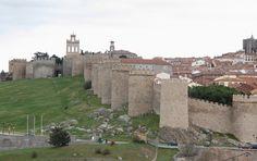 Medieval walls surrounding Avila Spain