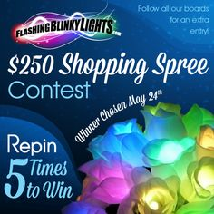 REPIN TO WIN! Contest goes for 2 weeks, crafty brides + learn how to make your own DIY flower bouquet full of magical rainbow LED lights! Weddings will never be the same.  Awesome for prom corsages & boutonnieres too...