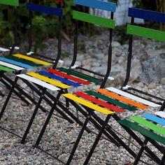 Gartenstuhl UNBUNT #gartenstuhl @klappstuhl #stuhl #sprossenstuhl #chair # Bunt #metall