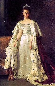 Therese Schwartze (Dutch:1851 - 1918) - Queen Wilhelmina of the Netherlands