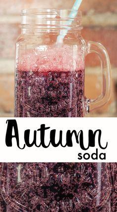 AUTUMN SODA | KUNINGATARSOODA Soda, Mason Jars, Autumn, Mugs, Tableware, Recipes, Dinnerware, Soft Drink, Fall