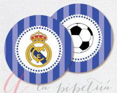 Paper & party supplies - paper - stickers, labels & tags - t Soccer Theme, Soccer Birthday, Soccer Party, 8th Birthday, Soccer Ball, Imprimibles Real Madrid, Soccer Centerpieces, Sports Themed Cakes, Real Madrid Soccer