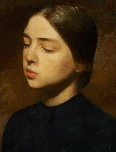 VILHELM HAMMERSHOI Portrait of the Artist's Sister, Anna Hammershoi