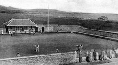 Tour Scotland Photographs: Old Photograph Lawn Bowling Green Leven Fife Scotland