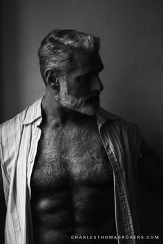 Silver Fox Anthony Varrecchia Photographed by Isauro Cairo & Charles Thomas Rogers Hairy Men, Bearded Men, Anthony Varrecchia, Great Beards, Beard Growth, Hairy Chest, Well Dressed Men, Hair And Beard Styles, Good Looking Men