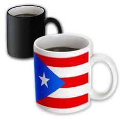 3dRose Puerto Rico Flag, Magic Transforming Mug, 11oz