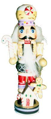 Gingerbread Man Nutcracker Wooden Christmas Ornament Decoration ** More info could be found at the image url. (This is an affiliate link)