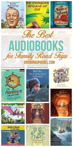just a long list of the best audiobooks for family road trips, but tips for finding audiobooks both kids and adults will love and enjoy. From history and biographies to classics and mysteries, these audibooks will make long road trips worth the time. Road Trip With Kids, Family Road Trips, Travel With Kids, Family Travel, Family Vacations, Travel Activities, Activities For Kids, Reading Activities, Best Audiobooks
