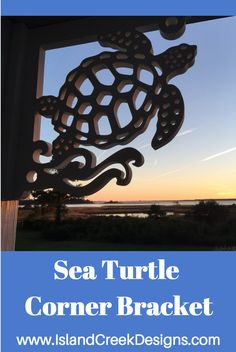 This Sea Turtle Corner Bracket by Island Creek Designs will bring coastal living to any home. Made from a 30 year all weather poly wood. Detailed custom design. Casts beautiful shadows all day long. From $100 http://www.islandcreekdesigns.com