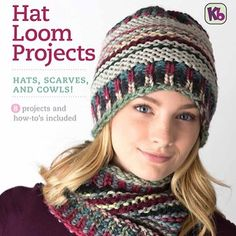 Just out! Our Hat Loom Projects eBook, download it at knittingboard.com #loomknitting