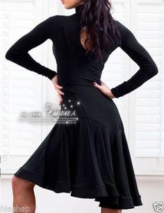 Latin Salsa Tango Rumba Cha Cha Ballroom Dance Dress Skirt | eBay