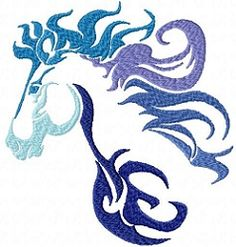 Tribal Ombre Animals 3, Horse - 3 Sizes | What's New | Machine Embroidery Designs | SWAKembroidery.com Sealed With A Stitch