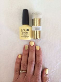 New Color -- on my nails today! CND Shellac Sun Bleached!