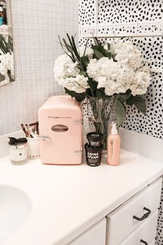 Beauty favorites spring I love my frigidaire mini retro beauty fridge! I Beauty favorites spring I love my frigidaire mini retro beauty fridge! I s… Beauty favorites spring I love my frigidaire mini… - Bedroom Inspo, Bedroom Decor, Girl Bathroom Decor, College Bathroom Decor, Cute Bathroom Ideas, Entryway Decor, Cute Room Decor, Glam Room, Lush Products