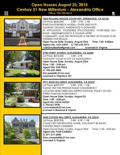 For even more Open Houses in your area, visit www.c21nm.com