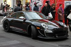 Black Porsche GT3 RS 4.0 Check out THESE Porsches! --> http://germancars.everythingaboutgermany.com/PORSCHE/Porsche.html