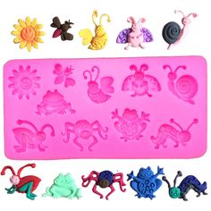 Cartoon Critters Silicone Mold