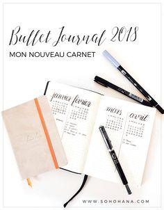 Bullet Journal 2018 - mon nouveau carnet