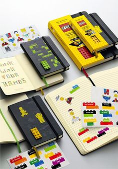 Lego Moleskine, saw them at Barnes and Noble. Can't decide which size to get. Or whether I should make my own.