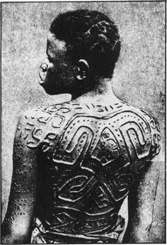 ancient African scarring ritual | The ancient cross, known as the swastika, scarred upon this woman's ...