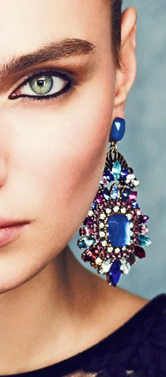 Guide to Rockin' Jewelry by Akilah Gorgeous blue and purple statement earrings