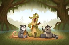 Love the crisp lines and colors of this! Character Design Animation, Character Drawing, Raccoon Drawing, Godzilla Comics, Beast Creature, Mediums Of Art, Bird Book, Character Design Inspiration, Children's Book Illustration