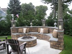 Cozy Outdoor Fire Pit Seating Design Ideas for Backyard One of the wonderful things about a backyard, is that you get to create your own oasis and enjoy it all year round, especially if you have a beautiful fire pit… Continue Reading → Fire Pit Seating, Backyard Seating, Backyard Patio Designs, Fire Pit Backyard, Backyard Landscaping, Outdoor Seating Areas, Fire Pit Near Pool, Paver Fire Pit, Outside Seating Area
