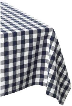 Amazon.com   DII 100% Cotton, Machine Washable Tablecloth Nautical Blue  Check 52x52