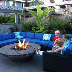Backyard Concrete Firepit