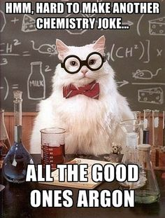 Hard to make another chemistry joke…