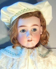 Charming Antique 28 inch Max Handwerck German Boy Doll Old Dolls, Antique Dolls, German Boys, Boy Doll, Little Girls, Childhood, Germany, Collections, Charmed