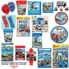 LEGO CITY, LEGO RESCUE, LEGOS Birthday PARTY SUPPLIES  FREE SHIPPING U-PICK