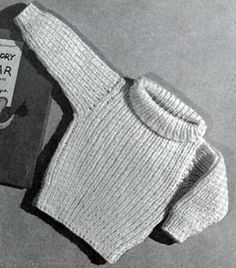 Turtle-Neck Pullover knitting pattern from Lacey's Speed Knits for Tiny Tots, originally published by T.M. Lacey, Volume 31.