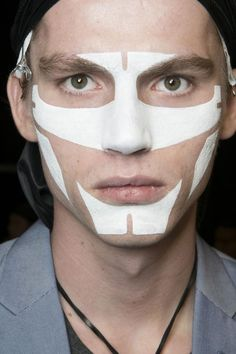 Givenchy Men's SS14 Backstage / Look by Pat McGrath