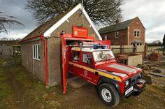 The Goathland Volunteer Fire Station in Yorkshire (UK) #LandRover #Defender