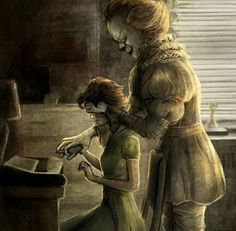 This gives me an idea, but not for horror This exact thing, but instead of pennywise it's the couple, and he/she says Trust me Pennywise Film, Pennywise The Dancing Clown, Who Played Pennywise, Best Halloween Movies, Halloween Kostüm, Horror Icons, Horror Art, Scary Movies, Horror Movies