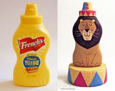 Eric Barclay mustard bottle art!