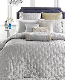 Hotel Collection Finest Silver Leaf Coverlet Collection