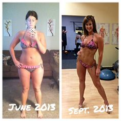 13 week progress pic, 25 weeks out from my first NPC bikini competition Find us on - www.facebook.com/motivationofsports