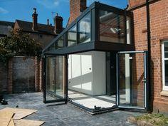 Bifold doors opening and closing - GIF by Lite Haus UK