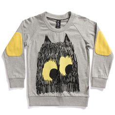 Minti summer crew monster face grey marle | fashion deli children's clothing & accessories