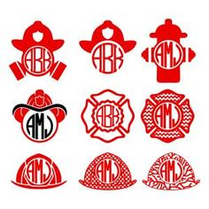 Firefighter Pack Monogram Round Circle Frames Cuttable Design Cut File. Vector, Clipart, Digital Scrapbooking Download, Available in JPEG, PDF, EPS, DXF and SVG. Works with Cricut, Design Space, Sure Cuts A Lot, Make the Cut!, Inkscape, CorelDraw, Adobe Illustrator, Silhouette Cameo, Brother ScanNCut and other compatible software.