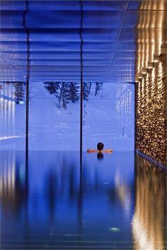 Copperhill Mountain Lodge - Member of @Design Hotels™ - Åre, Sweden - 2009 - Bohlin Cywinski Jackson #hotel #design #swimmingpool