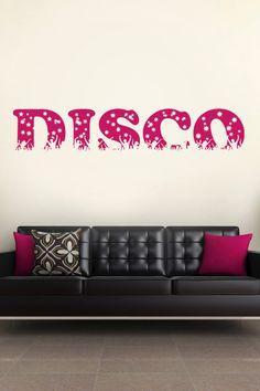 Disco wall decal by WALLTAT.com